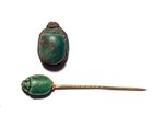 TWO PIECES EGYPTIAN SCARAB JEWELRY